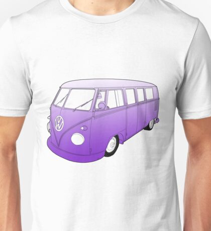 Purple VW Camper Unisex T-Shirt