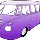 Purple VW Camper by Colin Bentham