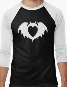 Clandestine Bat Heart - White Men's Baseball ¾ T-Shirt