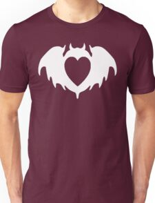 Clandestine Bat Heart - White Unisex T-Shirt