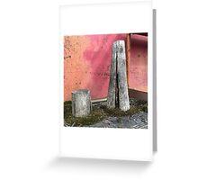 'Pillar house at home' The Accidental Pilgrim Greeting Card