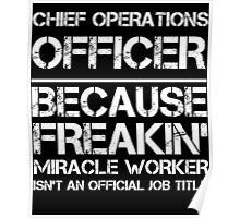 CHIEF OPERATIONS OFFICER BECAUSE FREAKIN' MIRACLE WORKER ISN'T AN OFFICIAL JOB TITLE Poster