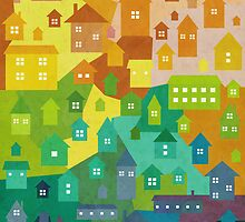 Rainbow houses by taoart