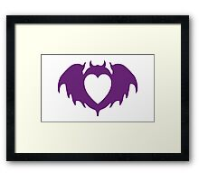 Clandestine Bat Heart - Purple Framed Print
