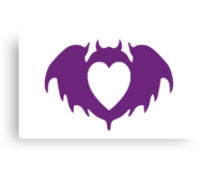 Clandestine Bat Heart - Purple Canvas Print