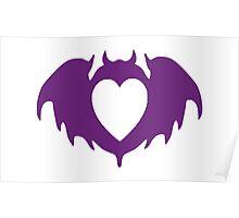 Clandestine Bat Heart - Purple Poster