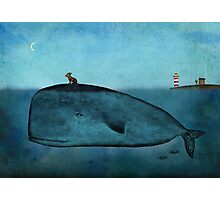 Whale and dog Photographic Print