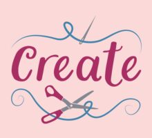 CREATE with scissors and needle Kids Tee