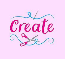 CREATE with scissors and needle by jazzydevil