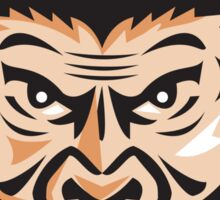 Angry Chimpanzee Head Baseball Cap Retro Sticker