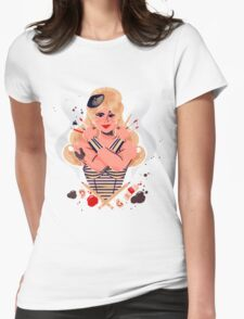 Redbubble French Superhero Womens Fitted T-Shirt
