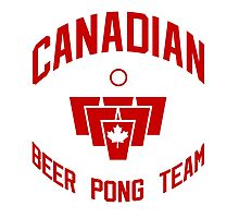 Canadian Beer Pong Team Photographic Print