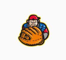Chimpanzee Baseball Catcher Glove Retro Classic T-Shirt