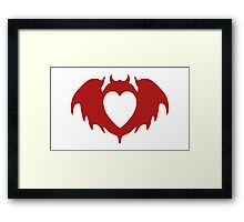 Clandestine Bat Heart - Red Framed Print
