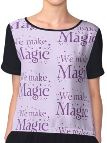 We make magic in purple Chiffon Top