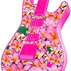 Guitar Flower Pink by amanda metalcat