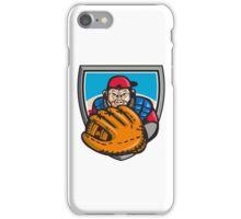 Chimpanzee Baseball Catcher Glove Shield Retro iPhone Case/Skin