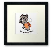 Hot Pitbull Dog Framed Print