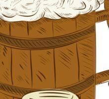 Medieval Beer Mug Foam Drawing Sticker