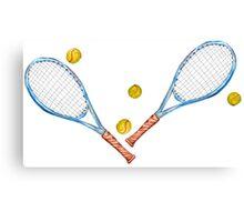 Tennis rackets with tennis balls_3 Canvas Print