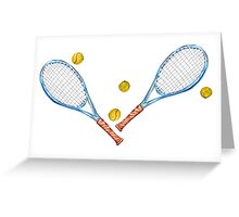 Tennis rackets with tennis balls_3 Greeting Card