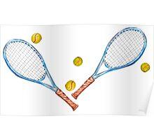 Tennis rackets with tennis balls_3 Poster