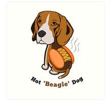 Hot Beagle Dog Art Print