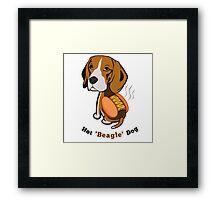 Hot Beagle Dog Framed Print