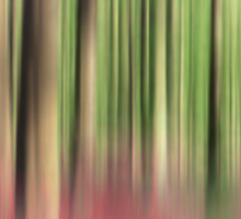green and red abstract forest Sticker