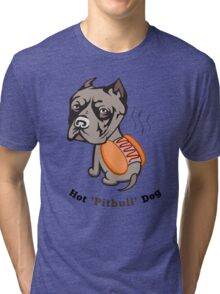 Hot Pitbull Dog Tri-blend T-Shirt
