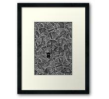Yarn Ball Pit in Black Framed Print