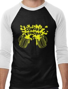 SUNDAY FUNDAY Drinking Beer College Booze Party Frat Men's Baseball ¾ T-Shirt