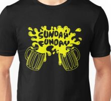 SUNDAY FUNDAY Drinking Beer College Booze Party Frat Unisex T-Shirt