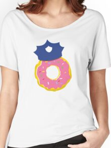 police hat with a doughnut Women's Relaxed Fit T-Shirt