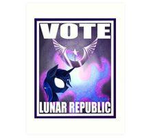 Vote Lunar Republic Art Print