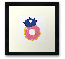 police hat with a doughnut Framed Print