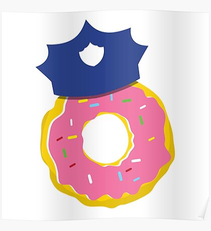 police hat with a doughnut Poster
