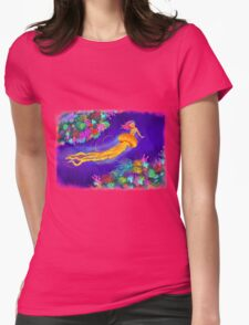 Jellyfish Mermaid! Womens Fitted T-Shirt