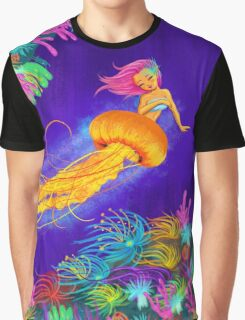 Jellyfish Mermaid! Graphic T-Shirt