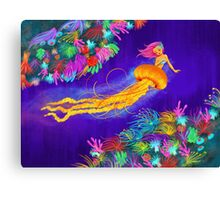 Jellyfish Mermaid! Canvas Print