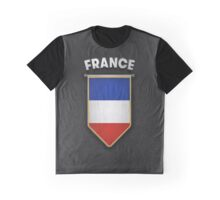 France Pennant with high quality leather look Graphic T-Shirt