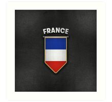 France Pennant with high quality leather look Art Print