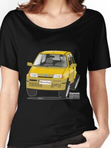 Fiat Cinquecento Sporting caricature Women's Relaxed Fit T-Shirt
