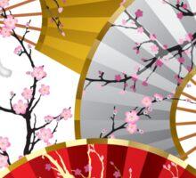 Japanese fans Sticker