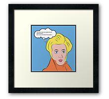 Soren Kierkegaard [Lichtenstein Pop Art Style with Quote] Framed Print