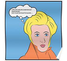 Soren Kierkegaard [Lichtenstein Pop Art Style with Quote] Poster