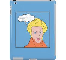 Soren Kierkegaard [Lichtenstein Pop Art Style with Quote] iPad Case/Skin