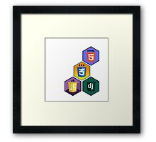 html5 css javascript django programming language stickers Framed Print