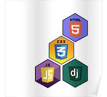 html5 css javascript django programming language stickers Poster