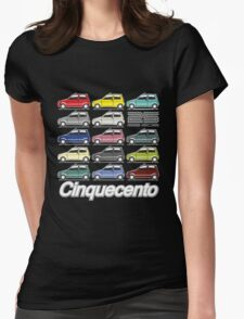 Fiat Cinquecento 25 years Womens Fitted T-Shirt